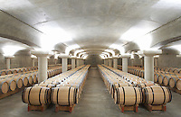 white wine barrel cellar chateau la garde pessac leognan graves bordeaux france