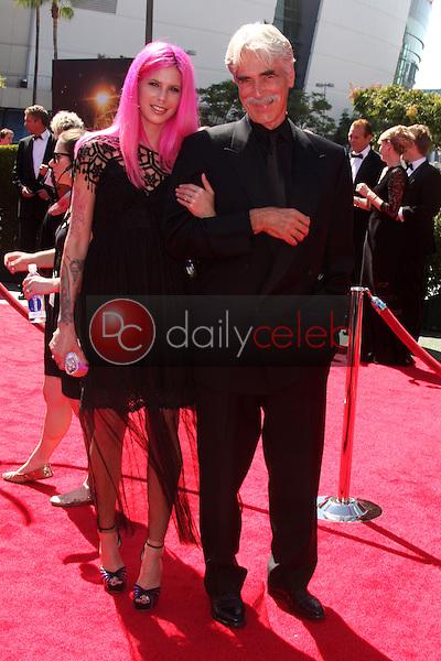 Sam Elliott, daughter Chloe<br /> at the Primetime Creative Arts Emmy Awards  2013 Arrivals, Nokia Theater, Los Angeles, CA, 09-15-13<br /> David Edwards/DailyCeleb.Com 818-249-4998