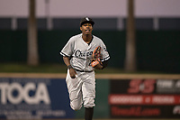 AZL White Sox left fielder Josue Guerrero (21) jogs off the field between innings of an Arizona League game against the AZL Indians 1 at Goodyear Ballpark on June 20, 2018 in Goodyear, Arizona. AZL Indians 1 defeated AZL White Sox 8-7. (Zachary Lucy/Four Seam Images)