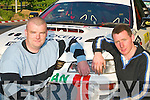 Mike Donoghue, Gneeveguilla, and Declan McAuliffe, Rathmore, who drove in the Rally of the Lakes last weekend..