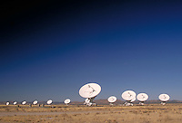 The VLA consists of 27 dish-shaped antennas, each 82-ft in diameter, spread across the Plains of San Augustin east of Datil, NM on US 60. The antennas are connected together to form a single large radio telescope capable of making detailed pictures o f ex