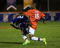 The number 24 ranked Furman Paladins took on the number 20 ranked Clemson Tigers in an inter-conference game at Clemson's Riggs Field.  Furman defeated Clemson 2-1.  Martin Ontiveros (10), Alexandra Rome'o Happi (15)