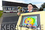 Dylan Murphy, winner of the Credit Union painting competition from Ballincrossig School.