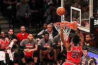 NEW YORK, EUA, 08.04.2017 - BROOKLYN NETS-CHICAGO BULLS -   Jimmy Butler  do Chicago Bull em partida contra o Brooklyn Nets  no Barcleys Center em New York na noite deste sábado, 08. (Foto: William Volcov/Brazil Photo Press)