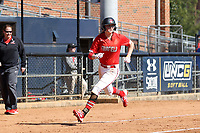 GREENSBORO, NC - FEBRUARY 22: Lacey Olaff #14 of Fairfield University rounds third base during a game between Fairfield and North Carolina at UNCG Softball Stadium on February 22, 2020 in Greensboro, North Carolina.