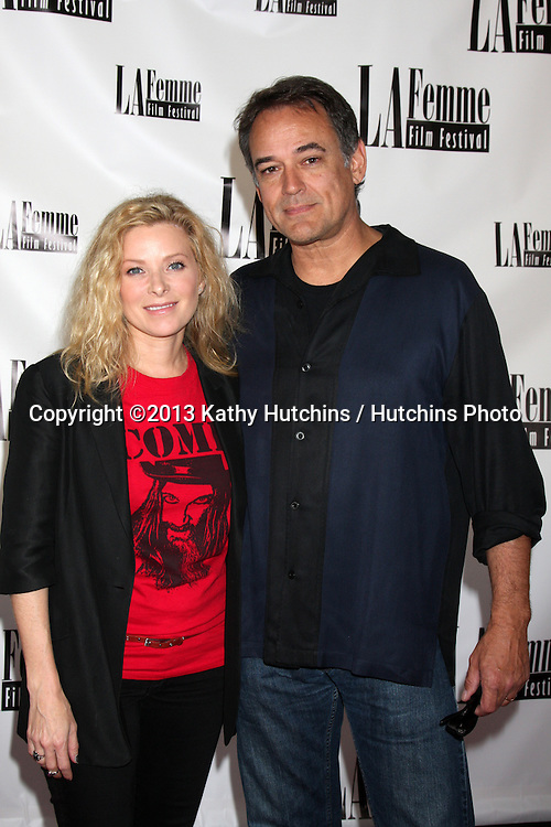 """LOS ANGELES - OCT 19:  Cady McClain, Jon Lindstrom at the """"The Bet"""" Screening at Le Femme Film Festival at Regal 14 Theaters on October 19, 2013 in Los Angeles, CA"""