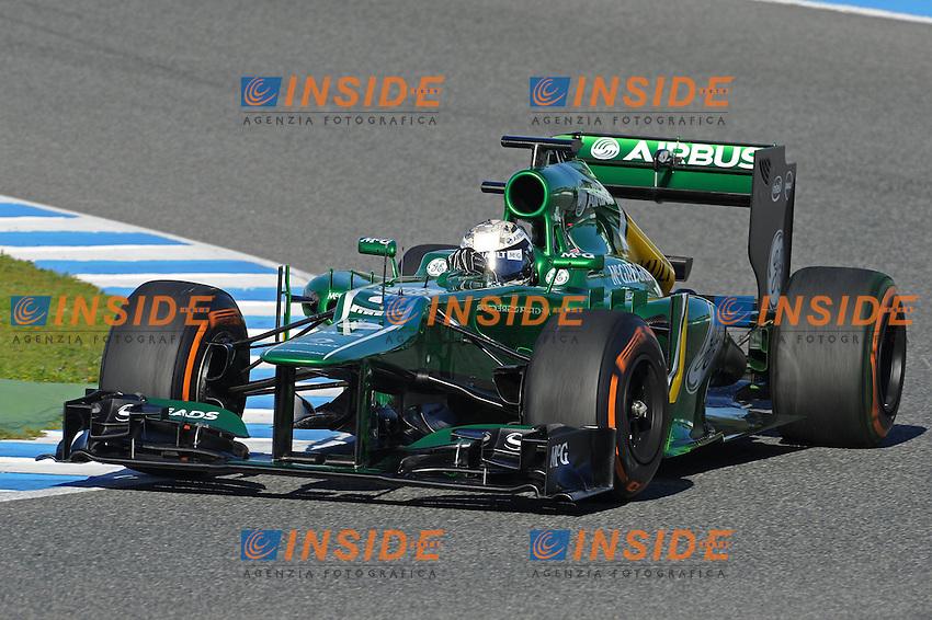formula 1: Test  Jerez 05/02/2013.GIEDO VAN DER GARDE (NDL) -  CATERHAM CT03 - ACTION  ...Foto Insidefoto / ITALY ONLY