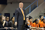 19 November 2014: Oklahoma head coach Jim Littell. The University of North Carolina Tar Heels hosted the Oklahoma State University Cowgirls at Carmichael Arena in Chapel Hill, North Carolina in a 2014-15 NCAA Division I Women's Basketball game. UNC won the game 79-77.