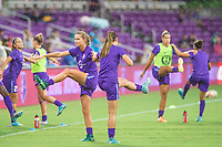 Orlando, FL - Saturday July 01, 2017: Dani Weatherholt, Alex Morgan during a regular season National Women's Soccer League (NWSL) match between the Orlando Pride and the Chicago Red Stars at Orlando City Stadium.