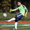 Jake Camarillo, South Side goalie, boots a ball upfield during a non-league varsity boys soccer game against Wheatley at South Side High School on Monday, Oct. 10, 2016. South Side won by a score of 6-0.