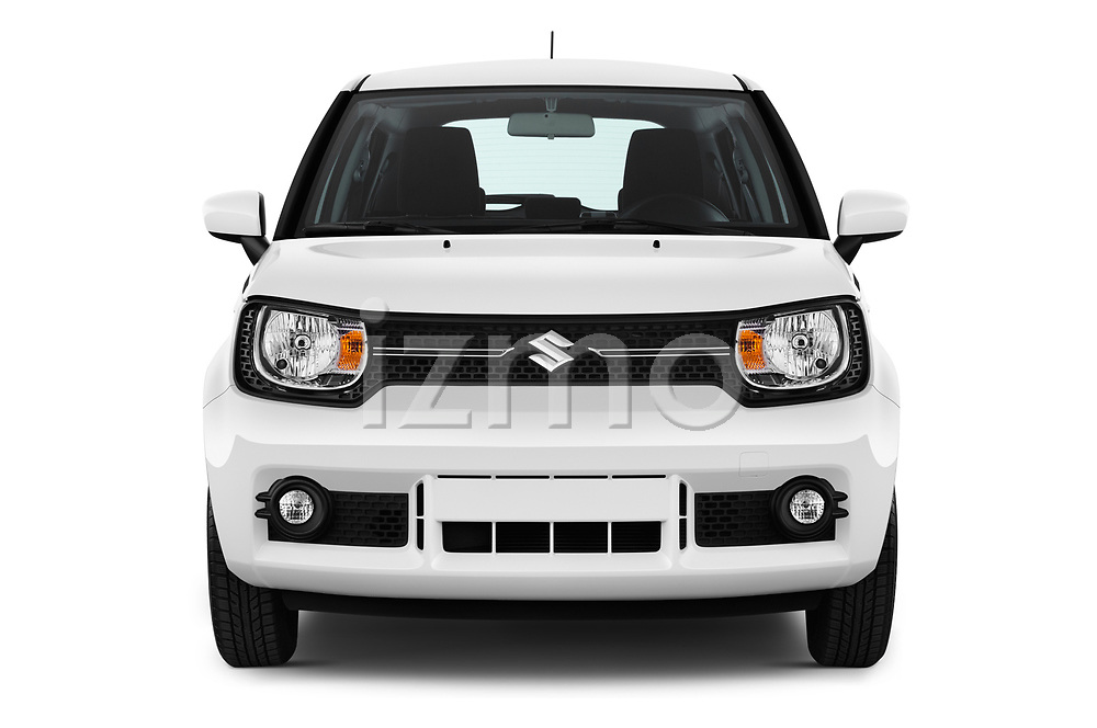 Car photography straight front view of a 2017 Suzuki Ignis GL 5 Door Hatchback Front View