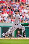 9 June 2013: Minnesota Twins infielder Brian Dozier in action against the Washington Nationals at Nationals Park in Washington, DC. The Nationals shut out the Twins 7-0 in the first game of their day/night double-header. Mandatory Credit: Ed Wolfstein Photo *** RAW (NEF) Image File Available ***