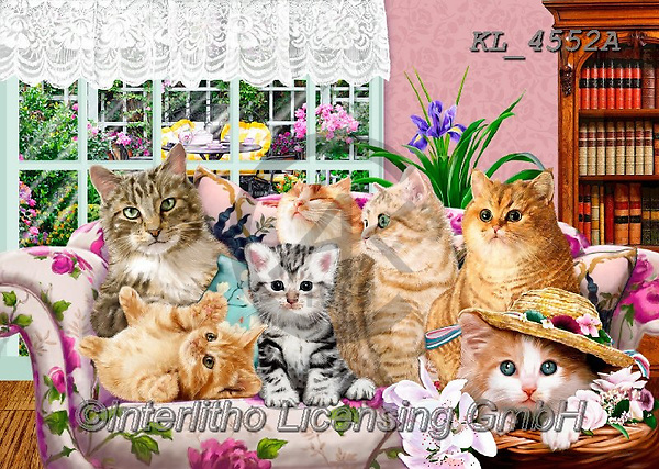Interlitho-Franco,REALISTIC ANIMALS, REALISTISCHE TIERE, ANIMALES REALISTICOS, paintings+++++,KL4552A,#a#, EVERYDAY ,puzzle,puzzles