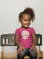 Mormon and member of the Church of Jesus Christ of Latter-day Saints Adanna Boyé (cq, age 3) in Salt Lake City, Utah, Monday, October 1, 2012. ..Photo by Matt Nager