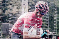 Maglia Rosa / overall leader Chris Froome (GBR/SKY) signing on for the last stage<br /> <br /> stage 21: Roma - Roma (115km)<br /> 101th Giro d'Italia 2018