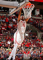 Ohio State Buckeyes forward LaQuinton Ross (10) throws down a dunk against Morgan State Bears during the 2nd half of their game at The Value City Arena at the Jerome Schottenstein Center on November 9, 2013.  (Dispatch photo by Kyle Robertson)