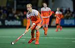 AMSTELVEEN - Billy Bakker (Ned)   tijdens de hockeyinterland Nederland-Ierland (7-1) , naar aanloop van het WK hockey in India. .  COPYRIGHT KOEN SUYK