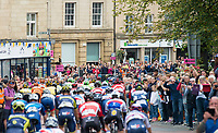 Picture by Allan McKenzie/SWpix.com - 04/09/2017 - Cycling - OVO Energy Tour of Britain - Stage 2 Kielder Water to Blyth - The peloton passes through Alnwick.