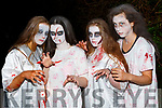 Jesse O'Doherty, Emer Dineen, Chloe Cahill and Niamh Greaney Killarney at the Knocknagoshel Halloween Festival on Sunday night