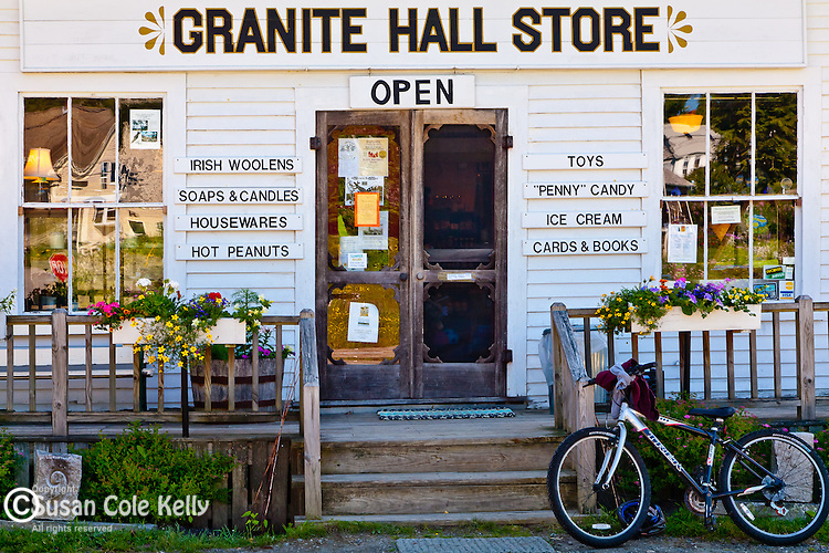 The Granite Hall Store in Round Pond village, Bristol, ME, USA