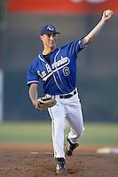 Derrick Van Dusen of the San Bernardino Stampede pitches during a California League 2002 season game at San Manuel Stadium, in San Bernardino, California. (Larry Goren/Four Seam Images)