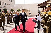 United States President Barack Obama walks with President Mahmoud Abbas of the Palestinian Authority before departing the Mugata Presidential Compound in Ramallah, the West Bank, March 21, 2013. .Mandatory Credit: Pete Souza - White House via CNP