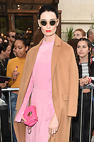 Erin O'Connor<br /> arrives for the TopShop UNIQUE catwalk show as part of London Fashion Week SS17, Old Spitalfields Market, London<br /> <br /> <br /> &copy;Ash Knotek  D3155  17/09/2016