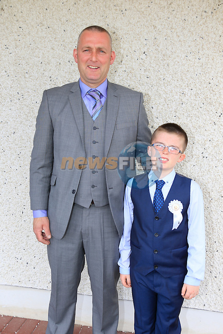 Jack Ludlow and Clidhbh Ludlow at first communion in Star of the Sea Church in Mornington.<br /> Picture: www.newsfile.ie