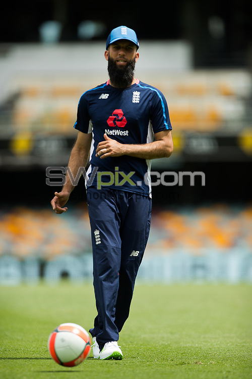 Ashes Preview - Moeen Ali at the Gabba Cricket Ground, Brisbane, Australia. 22 Nov 2017. Copyright photo: Patrick Hamilton / www.photosport.nz MANDATORY CREDIT/BYLINE : Patrick Hamilton/SWpix.com/PhotosportNZ