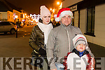 Evelina, Yarach and Milosh, Peachowecz, Killarney, pictured at the Christmas in Killarney magical parade on Friday evening last.