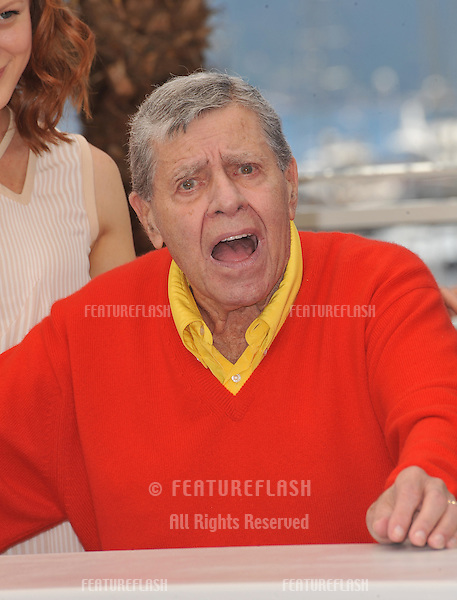"Jerry Lewis at photocall for his movie ""Max Rose"" at the 66th Festival de Cannes..May 23, 2013  Cannes, France.Picture: Paul Smith / Featureflash"