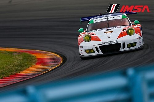 IMSA WeatherTech SportsCar Championship<br /> Sahlen's Six Hours of the Glen<br /> Watkins Glen International, Watkins Glen, NY USA<br /> Friday 30 June 2017<br /> 54, Porsche, Porsche 911 GT3 R, GTD, Jonathan Bennett, Colin Braun, Nic Jonsson<br /> World Copyright: Jake Galstad/LAT Images