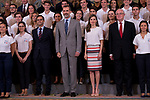 King Felipe VI of Spain and Queen Letizia of Spain attends to several audiences at Zarzuela Palace in Madrid, July 05, 2017. Spain.<br /> (ALTERPHOTOS/BorjaB.Hojas)