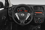 Car pictures of steering wheel view of a2015 Nissan Versa 1.6 SV CVT 4 Door Sedan Steering Wheel
