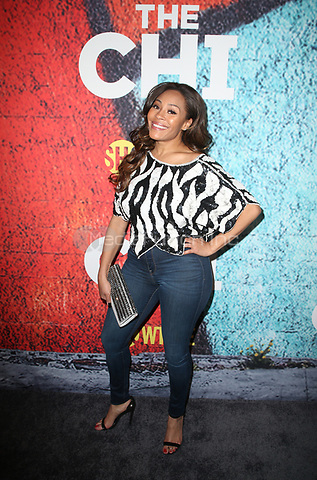 LOS ANGELES, CA - January 3: Tai Davis, at 29th Premiere Of Showtime's 'The Chi' at The Downtown Independent in Los Angeles, California on January 3, 2018. Credit: Faye Sadou/MediaPunch