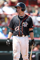Erie Seawolves Brandon Douglas #23 during a game against the Richmond Flying Squirrels at Jerry Uht Park on July 27, 2011 in Erie, Pennsylvania.  Richmond defeated Erie 4-2.  (Mike Janes/Four Seam Images)