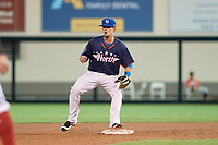 Dunedin Blue Jays second baseman Cavan Biggio (24) waits for a throw during the Florida State League All-Star Game on June 17, 2017 at Joker Marchant Stadium in Lakeland, Florida.  FSL North All-Stars defeated the FSL South All-Stars  5-2.  (Mike Janes/Four Seam Images)