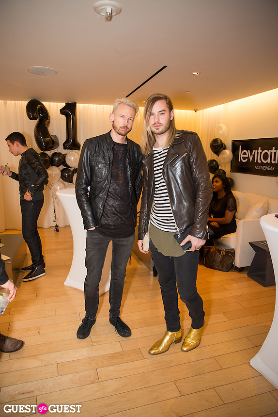 Chris Classen and Anthony David attend Levitation Activewear presents Sean Scott's Birthday Bash at SKYBAR on Dec. 17, 2015 (Photo by Inae Bloom/Guest of a Guest)