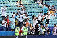 Fans aus Kamerun feiern ihre Mannschaft - 25.06.2017: Deutschland vs. Kamerun, Fisht Stadium Sotschi, Confederations Cup