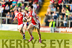 Kenmare in action against Cathal Murphy Rathmore in the Senior County Football Semi Final in Fitzgerald Stadium on Sunday.
