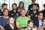 29.07.2017, Fritz Detmar Stadion, Lohne, GER, FSP SV Werder Bremen (GER) vs WestHam United (ENG), <br /> <br /> im Bild<br /> <br /> Klaus Filbry (Geschaeftsfuehrer Werder Bremen) und Marco Bode (Aufsichtsratsvorsitzender SV Werder Bremen) Dr. Hubertus Hess-Grunewald (Geschaeftsführer und Praesident) auf der Tribuene<br /> Foto © nordphoto / Kokenge