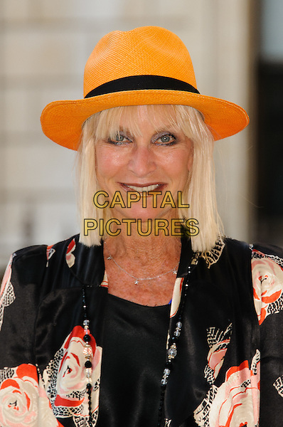 Virginia Bates.Arrivals at the Royal Academy Summer Exhibition 2012 - preview party held at the Royal Academy of Arts, London, England..May 30th, 2012.headshot portrait white red black print orange hat jacket.CAP/CJ.©Chris Joseph/Capital Pictures.