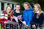 Roisin Moriarty, Clodagh McHugh, Caemnat Moore, Caoimhe Tobin, Presentation Secondary School students pictured after completing the Leaving Certificate English Paper 1 on Wednesday morning last.