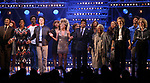 "Adrienne Warren and Daniel J. Watts with cast during the ""Tina - The Tina Turner Musical"" Opening Night Curtain Call at the Lunt-Fontanne Theatre on November 07, 2019 in New York City."