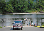 Activity at a boat launch, Delaware Water Gap National Recreation Area, Pennsylvania, USA