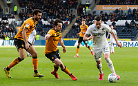 Leeds United's Jack Harrison takes on Hull City's George Honeyman<br /> <br /> Photographer Alex Dodd/CameraSport<br /> <br /> The EFL Sky Bet Championship - Hull City v Leeds United - Saturday 29th February 2020 - KCOM Stadium - Hull<br /> <br /> World Copyright © 2020 CameraSport. All rights reserved. 43 Linden Ave. Countesthorpe. Leicester. England. LE8 5PG - Tel: +44 (0) 116 277 4147 - admin@camerasport.com - www.camerasport.com