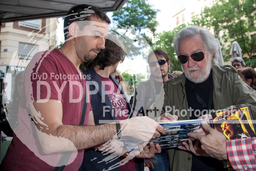 American film director Tobe hooper arrives to Palafox Cinema to recieve the Master Fantasy Prize into de Nocturna Fantasy Festival in Madrid on May 29, 2014. Photo by Nacho Lopez/ DyD Fotografos-DYDPPA