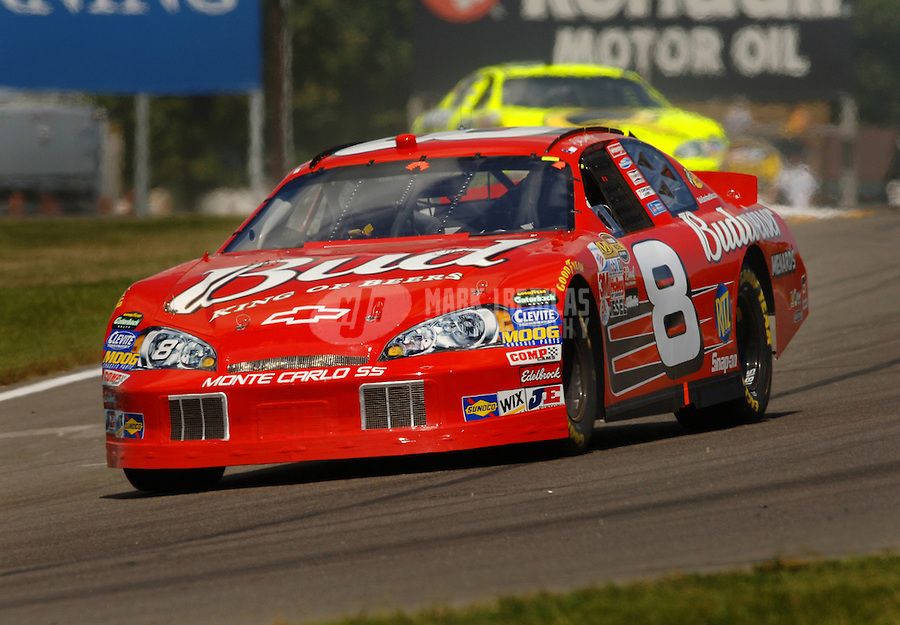 Aug. 13, 2006; Watkins Glen, NY, USA; Nascar Nextel Cup driver Dale Earnhardt Jr (8) during the AMD at the Glen at Watkins Glen International. Mandatory Credit: Mark J. Rebilas..