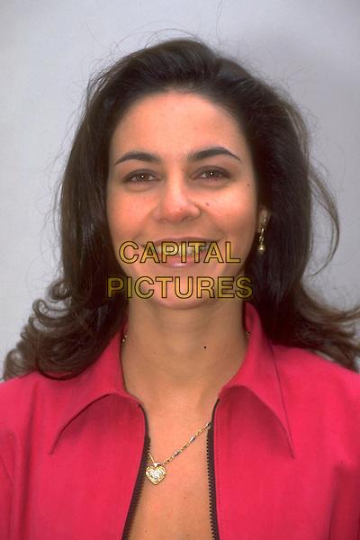 JULIA BRADURY.Ref: 4525.pre 2001.headshot portrait pink .CAP/HT.©Hugh Thompson/Capital Pictures.