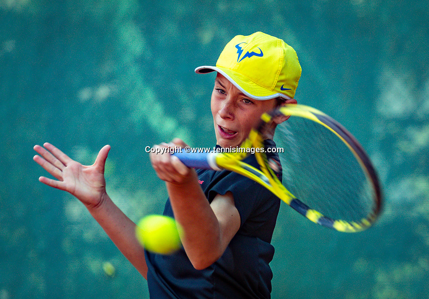 Hilversum, Netherlands, Juli 29, 2019, Tulip Tennis center, National Junior Tennis Championships 12 and 14 years, NJK, Mees Röttgering (NED)<br /> Photo: Tennisimages/Henk Koster